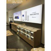 华为3.5版灯箱靠墙柜生产厂家,2018款华为体验店展台批发