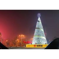 现货出售大型铁艺 异形 原创 高档钢结构 爆款 led灯串圣诞树美陈