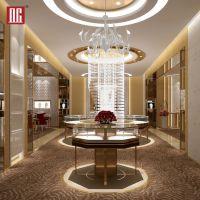 高档珠宝展示柜上海展柜定制厂家商场珠宝岛柜设计不锈钢金属展柜
