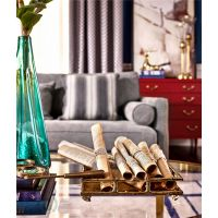 美式轻奢客厅全实木进口 榉木装饰柜玫瑰红全封闭立体柜