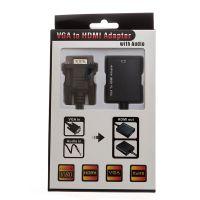 VGA转HDMI 转换器 带音频 VGA to HDMI带音频 切换器 加AV音频线