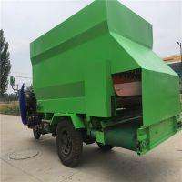 牧场专用电动撒料车 澜海机械三轮车带动牛羊饲料撒料车直销