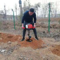 华晨栽杨树苗用的挖坑机 300直径挖坑机多少钱 地钻打孔机厂家