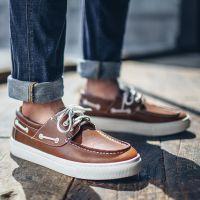 一件代发秋季新款潮男鞋子男士休闲鞋男鞋英伦帆船鞋男皮鞋男板鞋