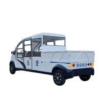 厂家批发四轮电动巡逻车 家用四轮低速老年人代步车 全封闭观光车