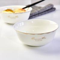 达美瓷业批发骨质瓷餐具 家用陶瓷大面碗 定制餐厅用品