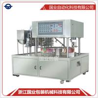 国业BD-4全自动辣椒酱早餐豆浆酱类果汁吸嘴灌装旋盖机器生产线