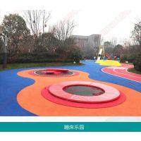 定制户外景区游乐园蹦床无动力设备 儿童蹦床设施设计直销安装