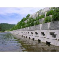 鱼巢式生态框、鱼巢式护坡、生态挡墙、箱型砌块