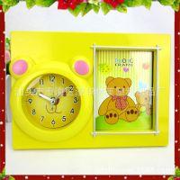 LM7454【厂家特销】可爱卡通小熊高档礼品放照片闹钟儿童系列