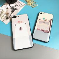 雅正 iphone7手机壳挂绳苹果7plus硅胶防摔全包卡通磨砂韩国女款