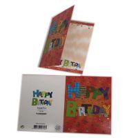 优质纸盒厂家供应白卡纸300g单铜纸制贺卡uv烫金折叠印刷彩色卡片
