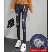 广东爆款韩版牛仔裤哪里有摆地摊批发5-10元牛仔裤厂家库存处理便宜牛仔裤批发