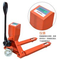 深圳宝安带打印电子叉车秤 称重搬运车 电子液压搬运叉车