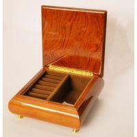 高光实木拼花首饰盒—百木清怡专业木制包装生产商