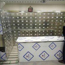鹤壁中药柜厂家 —(简约大方)56斗带顶柜不锈钢中药斗实体工厂