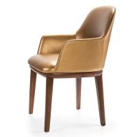 热销法国现代皮革餐椅 高品质椅子 高贵典雅餐椅
