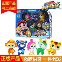 锦江猪猪侠超星萌宠竞球小英雄 铁拳虎火焰鹤儿童公仔手办玩具