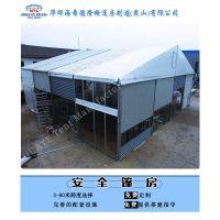 在冬天大型铝合金帐篷中可以采用加厚的岩棉板材料可恒温