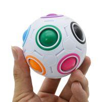 厂家直销魔力彩虹球按压式创意足球儿童益智科教玩具异形智力魔方