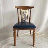 餐厅原木餐椅定做咖啡厅休闲椅子木制餐椅工厂直销高档实木椅子