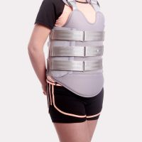 可塑形胸腰骶矫形器 胸腰椎术后损伤康复固定支具 可调胸腰椎支具 白色