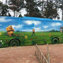 幼儿园手绘墙-厦门手绘墙-橙与蓝(查看)