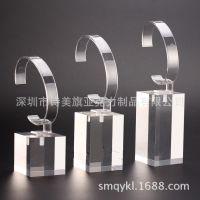 亚克力水晶透明方块手表展示台/架手表立体展示支架智能手表展示