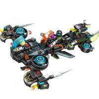 开智热卖系列拼插塑料玩具8合1超大款时空穿梭机未来警察6609