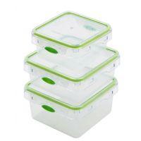 【香港品牌】多功能透明方形套装 pp塑料保鲜盒 冰箱保鲜食品收纳 创意便当餐盒 果蔬冷藏