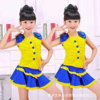 六一儿童演出服舞蹈服装足球宝贝服装中小学生啦啦操服装校园服装