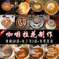 咖啡拿铁摩卡拉花制作技术配方百款大全视频教程+文档资料集1.93G