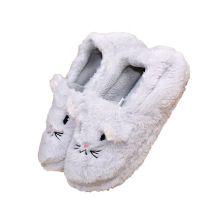厂家直销居家室内卡通棉拖鞋女包跟冬天静音可爱毛绒拖鞋厚底防滑