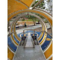 商场消防逃生组合滑梯 304不锈钢滑梯 房地产公园大型景观游乐设施 非标定制滑梯