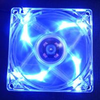 超酷炫彩8CM 8025 透明四色彩灯LED 带灯机箱风扇