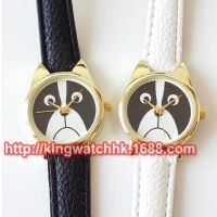 正品韩版时尚小狗 皮带手表  学生女生石英仿水手表,可爱风