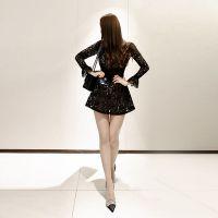 乐町杭州四季青服装尾货批发市场 折扣品牌女装加盟店尾货深蓝色羽绒服