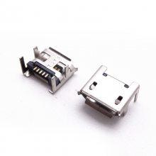 MICRO 5P母座7.2四角插板脚加长针贴片