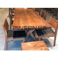 轻奢大理石圆形餐桌椅组合 小户型家用火锅桌子 古典中式