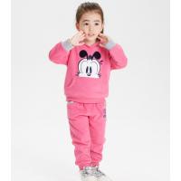 韩版新款纯棉童装裤套装 地摊批发儿童卫衣两件装