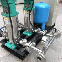 自来水供水系统MVI807立式3KW威乐水泵安装图