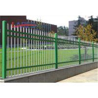厂家直销山西吕梁喷塑锌钢护栏浸塑护栏围墙铁栅栏