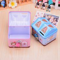 幼儿园儿童礼物奖品 韩国礼品 房子可爱卡通带锁存钱罐储蓄罐
