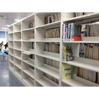 图书馆钢制书架中小学图书馆书架阅览室期刊架书架钢木书架定做