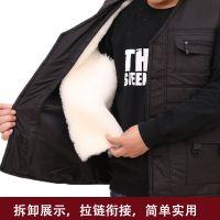 厂家直销羊皮马甲活里活面男士羊皮毛一体坎肩保暖棉背心皮草马甲