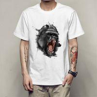 个性创意3D猩猩男士T恤夏季青少年时尚短袖印花圆领打底衫衬衫