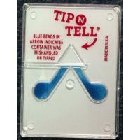 供应人字型防倾倒标签TIPNTELL白色45度倾倒显示器防倒置运输监控贴