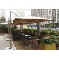 合肥咖啡馆外部遮阳伞 星巴克大防晒太阳伞休闲桌椅组合价格
