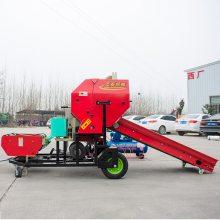 沧州柴油机全自动青贮打捆包膜机 经济耐用秸秆青储打捆机