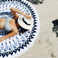 户外海边便携超轻郊游野餐布垫子必用品备 圆形防潮旅游沙滩地垫